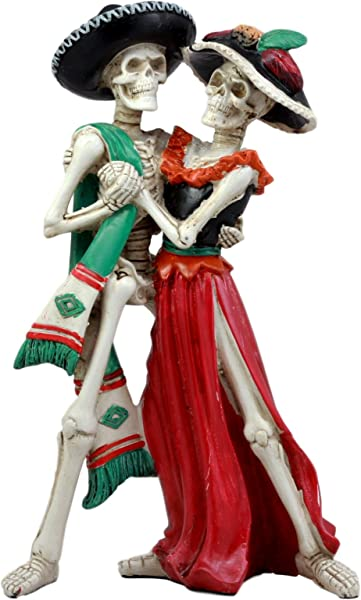 Ebros Large Day Of The Dead Wedding Dance Skeleton Couple Figurine Dias De Los Muertos Lovers Sculpture 12 H