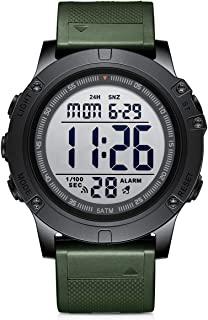 Men's Digital Sport Watches Waterproof Military Tactical Style with LED Backlight Rubber Strap...