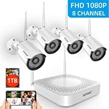 1080P Full HD Security Camera System Wireless with 1TB Hard Drive Night Vision