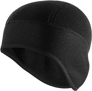 MagiDeal Outdoor Winter Thermal Fleeced Cycling Running Ear Warm Skull Cap and Helmet Liner Black