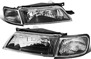 For Nissan Maxima Pair Black Housing Clear Corner Bumper Driving Headlight/Lamps