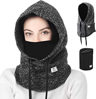 Balaclava Winter Hat Facial Neck Warmer Mask, Sporty Street Fashion Skiing