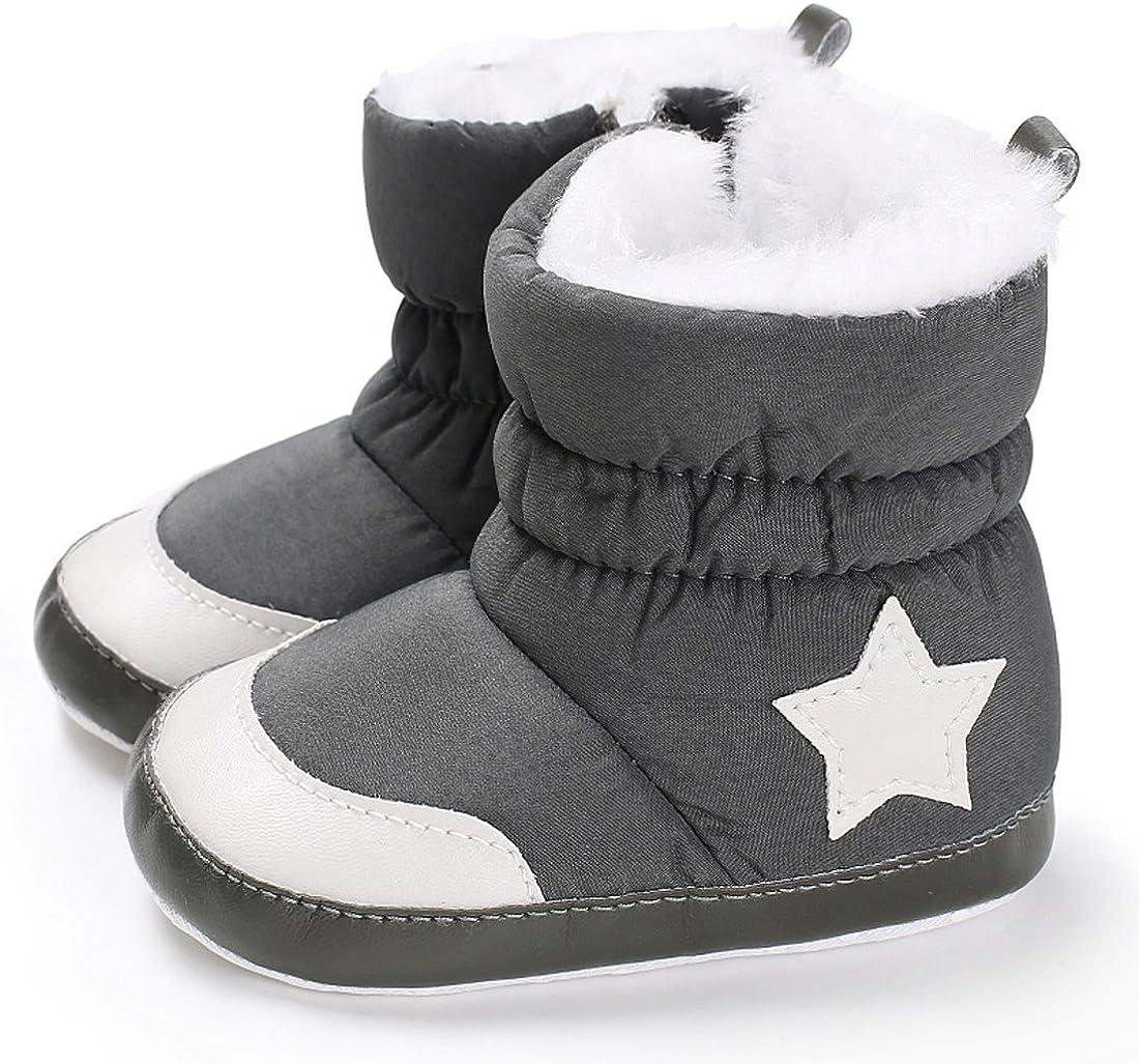 Baby Premium Soft Sole Star Anti-Slip Mid Calf Warm Winter Infant Boots Toddler