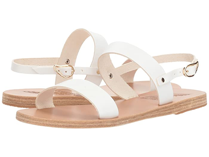 Ancient Greek Sandals  Clio (White Vachetta) Womens Sandals