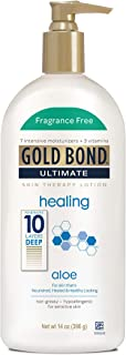 Gold Bond Ultimate Healing Skin Therapy Lotion with Aloe, Fragrance Free, 14 Ounces