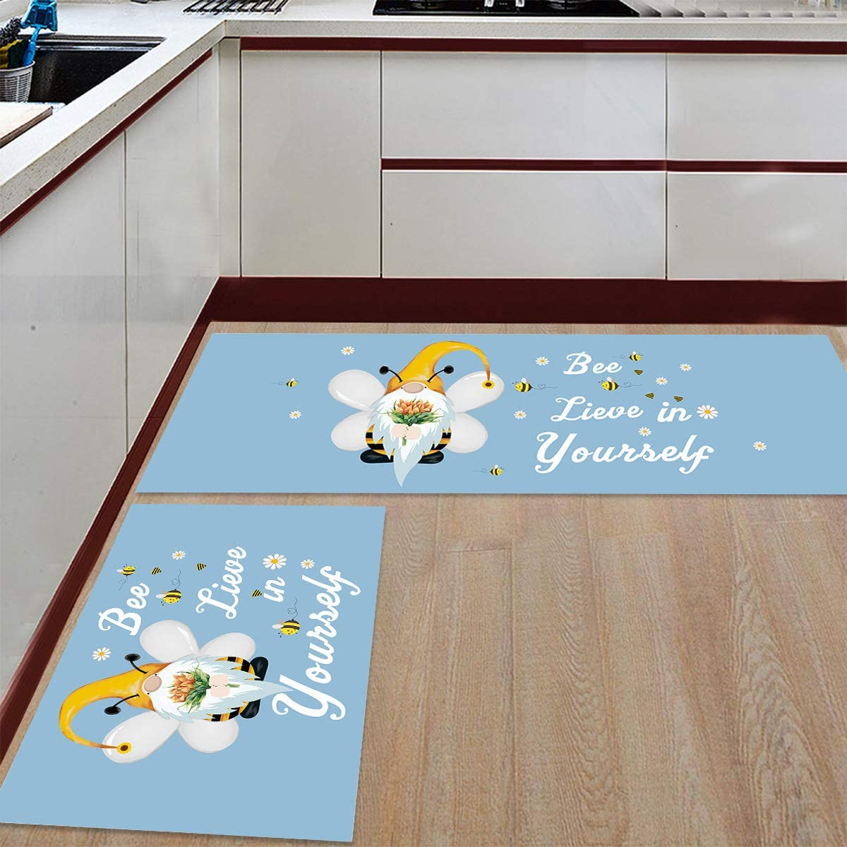 PakiInno 2 PCS Kitchen Rugs and Rug Inventory cleanup selling sale Non Li Bee Ranking TOP11 Slip Mats
