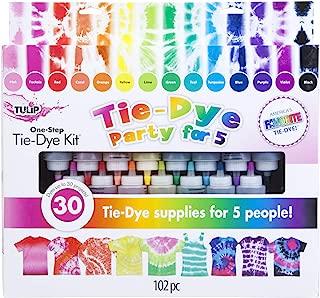 Tulip one-step tie-dye One Step Tie-Dye 15-Color Party Kit, Standard, Rainbow