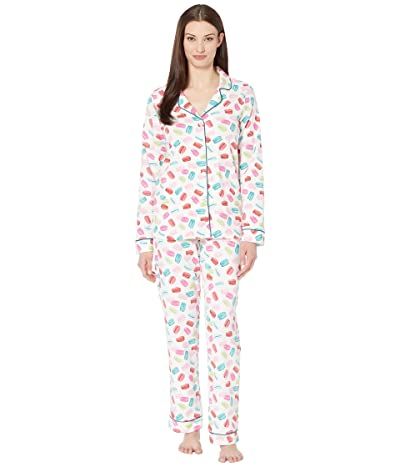 BedHead Pajamas Long Sleeve Classic Notch Collar Pajama Set (Les Macarons) Women