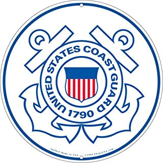 United States Coast Guard Logo Aluminum Sign Round 12