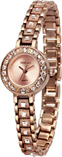 Time100 时光一百 简约闪钻 石英女士手表 圆形闪钻手链 W501PTAI45L.03A
