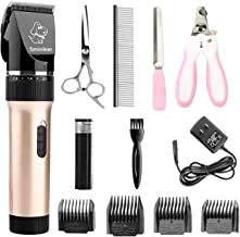 Sminiker Professional Low Noise Rechargeable Cordless Cat and Dog Clippers –..