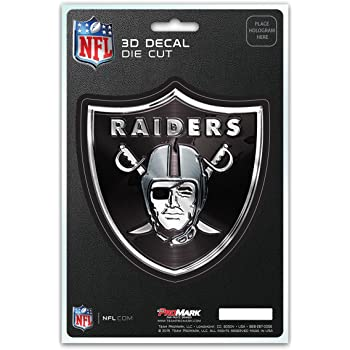 NFL Oakland Raiders Chrome Finished Auto Emblem 3D Sticker
