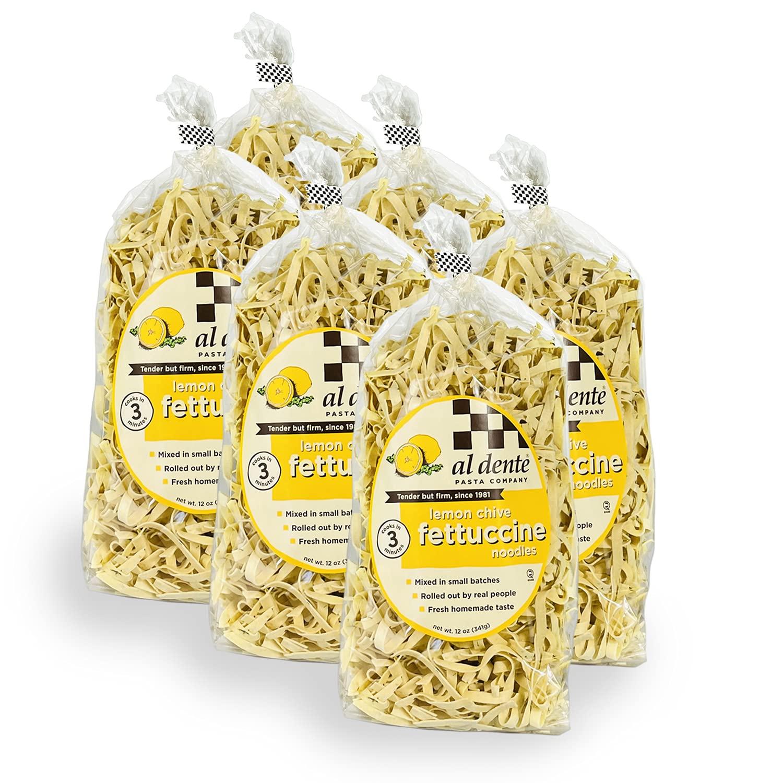 Boston Mall Al Dente Lemon Chive Spasm price Fettuccine Bag 6 Pack 12-Ounce of