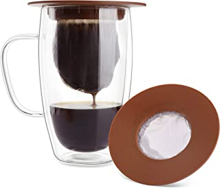 Geesta Portable Pour Over Coffee Maker - Single Cup Brew Buddy with the Reusable Dye-Free Mesh Bag - Best for Travel and Camping