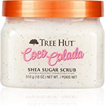 Tree Hut Shea Sugar Scrub Coco Colada, 18oz, Ultra Hydrating and Exfoliating Scrub for Nourishing Essential Body Care