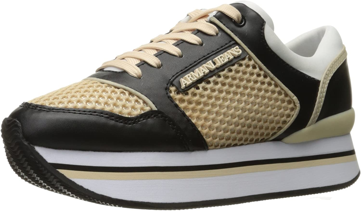 ARMANI JEANS Womens Double Decker Sneaker Fashion Sneaker