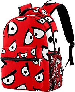 حقيبة ظهر خفيفة الوزن حقيبة مدرسية للكلية حقيبة كمبيوتر محمول Daypack للبالغين والأطفال حقيبة ظهر عادية عيون مضحكة