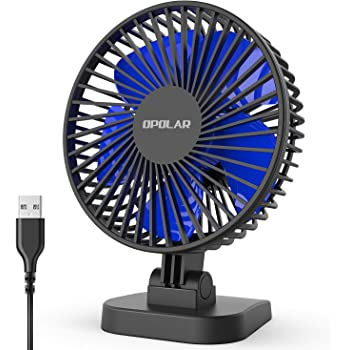 Portable USB Small Fan Mini Fan with USB Rechargeable 800 MAh Battery Detachable Base for Travel Camping 3 Speeds 3.5 Hours Great for Desktop Tabletop Office /& Travel