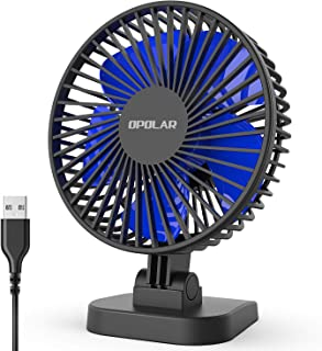 OPOLAR Mini USB Powered Desk Fan, Small Buy Mighty, 2019 New Quiet Portable Fan for Desktop Office Table, 40° Adjustment for Better Cooling, 3 Speeds, 4.9 ft Cord