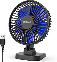 OPOLAR USB Desk Fan, Small but Mighty, Quiet Portable Fan for Desktop Office Table, 40°..