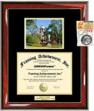 Diploma Frame University of Notre Dame Graduation Gift Idea ND Engraved Picture Frames Engraving Degree Graduate Bachelor Masters MBA PHD Doctorate School