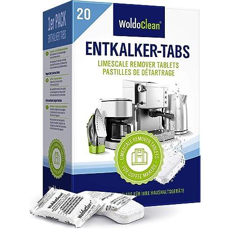 Pastillas descalcificadoras 20x 16g para máquinas de café - totalmente automáticas compatibles con todas las máquinas de café…