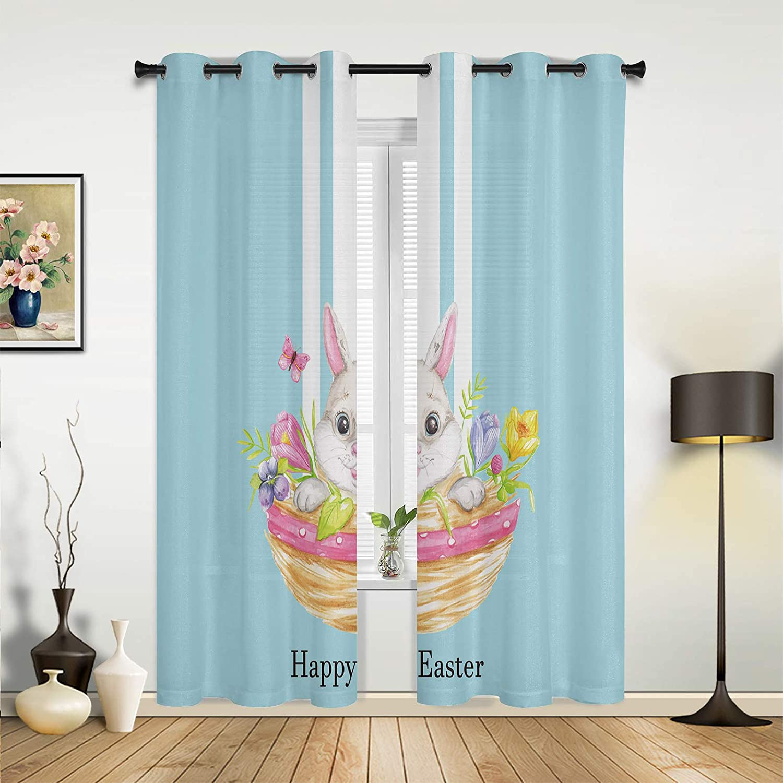 Max 66% OFF Beauty Decor Window Popular overseas Sheer Curtains Happy Room Bedroom for Living