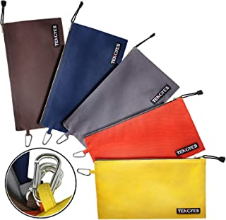 Canvas Tool Pouch Zipper Bag – 5 Pack Utility Bags Heavy Duty Metal Zippers Pouches..