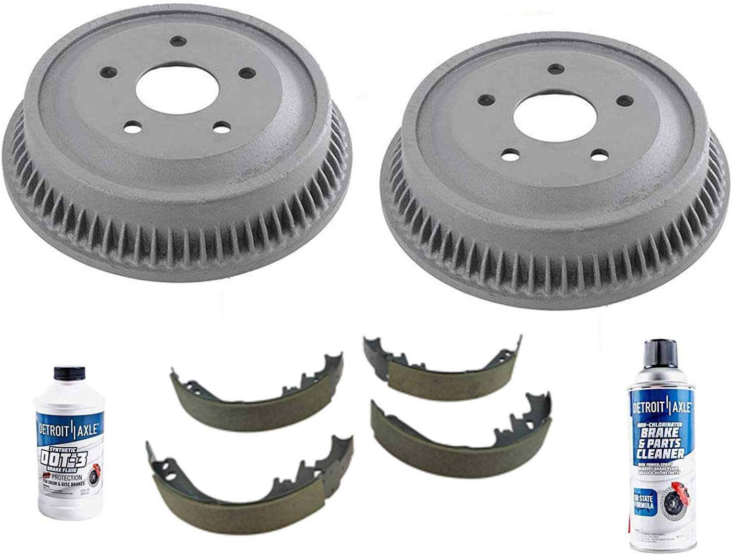 Detroit Axle Shipping included - Pair 2 National uniform free shipping Rear Shoes w Ceramic Drum Brake