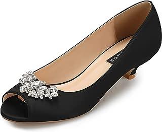 ERIJUNOR Womens E0111 Comfortable Low Heel Wedding Shoes