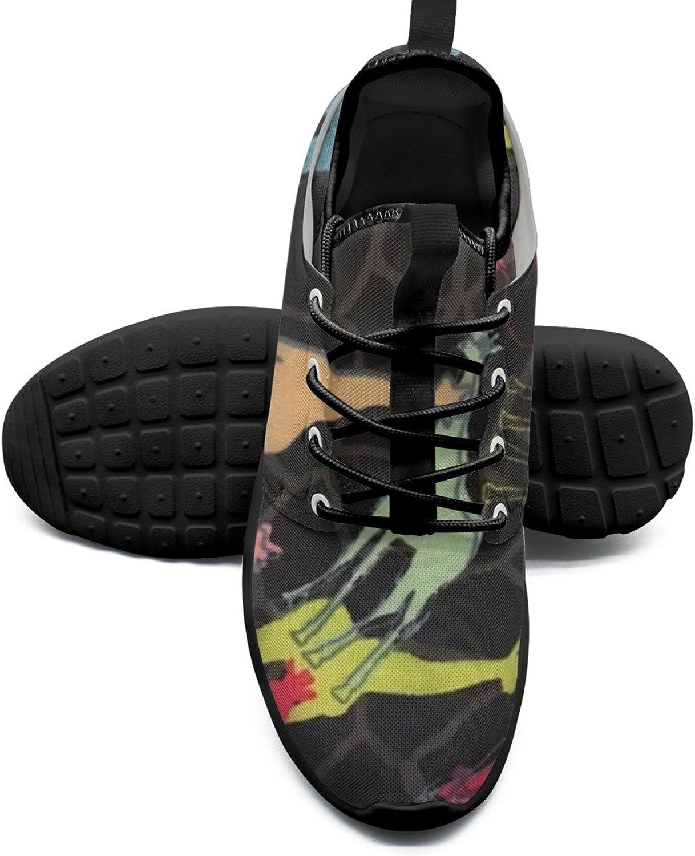 Multi color Giraffe Printing Women's Tennis shoes Retro Mesh Lightweight Tennis Sneakers