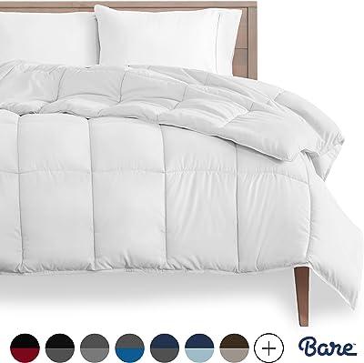 Bare Home Comforter/Duvet Insert - Twin/Twin XL - Goose Down Alternative - Ultra-Soft - Premium 1800 Series - Hypoallergenic - All Season Breathable Warmth (Twin/Twin XL, White)