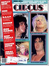 Circus Magazine KISS Iron Maiden MOTLEY CRUE CENTERFOLD Twisted Sister W.A.S.P. Deep Purple DOKKEN April 30 1985 C (Circus Magazine)