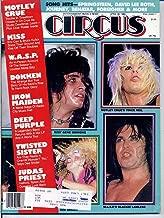Circus Magazine KISS Iron Maiden MOTLEY CRUE CENTERFOLD Twisted Sister W.A.S.P. Deep Purple DOKKEN April 30 1985 C (Circus Magazine)