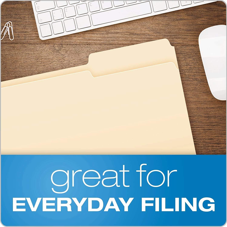 Pendaflex File Folders Legal Size 1//3 Cut 753 1//3 100//BX Manila 4- Pack