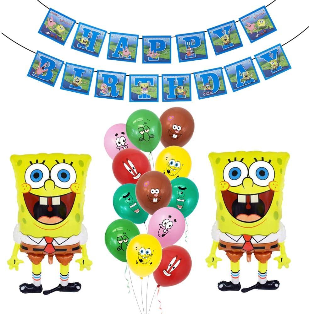 15PCS Spongebob Reservation BalloonsBirthdayPartySup Quantity limited Squarepants
