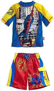 8b0180ee95 Disney Store Marvel Spiderman Boy Rash Guard & Swim Trunks Set Size 5/6