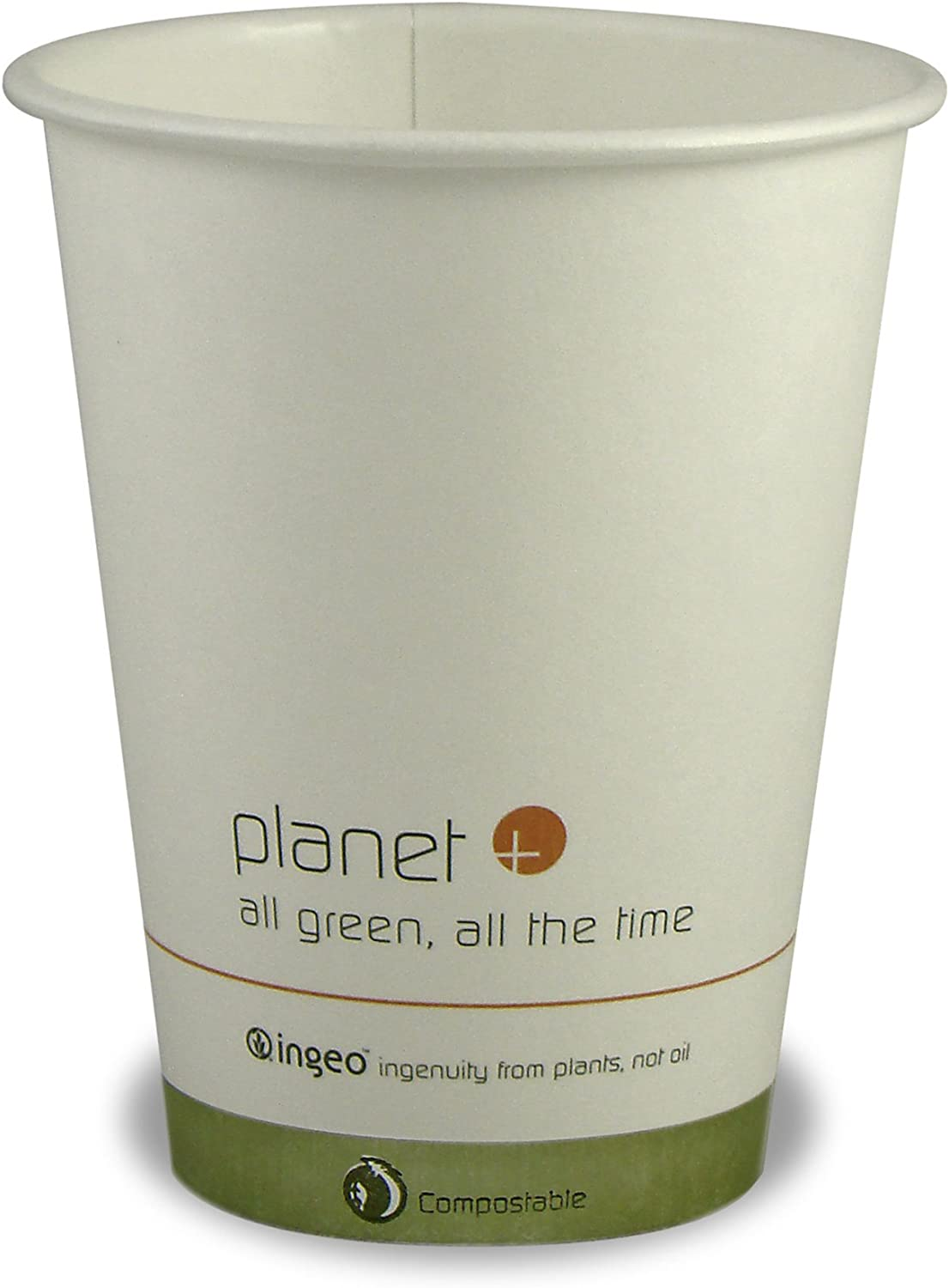 Planet + 100% Compostable PLA Laminated Hot Cup, 12-Ounce, 1000-Count Case
