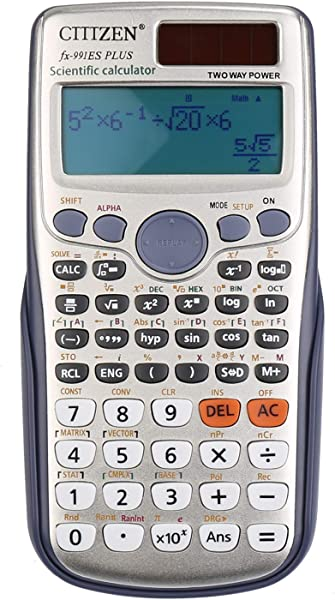 DricRoda Scientific Calculator Function Calculator Engineering Calculator High School Calculator With Solar Power Large LCD Display For College University Office Home And Business Sliver