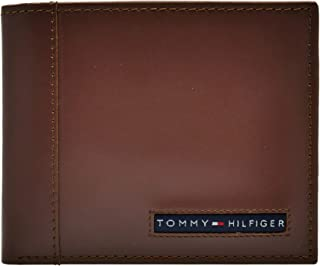Tommy Hilfiger Cambridge Billfold Wallet for Men - Leather, Tan