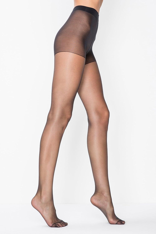 Doyenna- 15 FIT Women Pantyhose 3 Pairs (Black, Skin, Dark Skin)