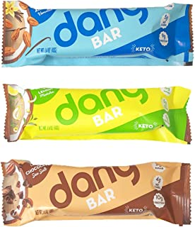 Dang Plant Based Keto Bar 1.4oz, 3 Pack (3 Variety)