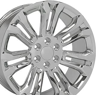 OE Wheels 22 Inch Fits Chevy Silverado Tahoe GMC Sierra Yukon Cadillac Escalade CV43 Chrome 22x9 Rim Hollander 5666