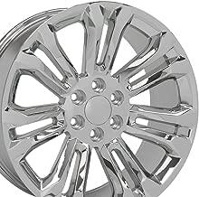 OE Wheels 22 Inch Fit Chevy Silverado Tahoe GMC Sierra Yukon Cadillac Escalade CV43 Chrome 22x9 Rims Hollander 5666 SET