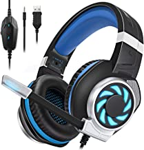 BUTFULAKE GH-3 Gaming Headset for Xbox One, Xbox One S, PS4, PC, Nintendo Switch, Mac, Laptop, 3.5mm Wired Over-Ear Gaming...