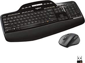 Logitech MK710 Wireless Keyboard and Mouse Combo — Includes Keyboard and Mouse, Stylish Design, Built-In LCD Status Dashbo...