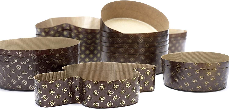 Formas para Dulces de Pascua en Papel Moldes Resistentes en Varios Tama/ños Made in Italy 300 gr, 6 Pcs Ducomi Molde para Colomba Pasquale Idea de Regalo