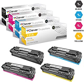 CS Compatible Toner Cartridge Replacement for HP PRO 200 M276NW CF2110 Black CF211A Cyan CF212A Yellow CF213A Magenta HP 131A COLOR LASERJET M251NW M276NW PRO 200 M251N M251NW M276N M276NW 4 Color Set