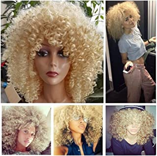 Best tight curly blonde wig Reviews