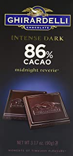Ghirardelli Intense Dark Midnight Reverie Chocolate Bar, 3.1 Ounce - 12 per case.